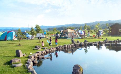 写真:キャンプ場